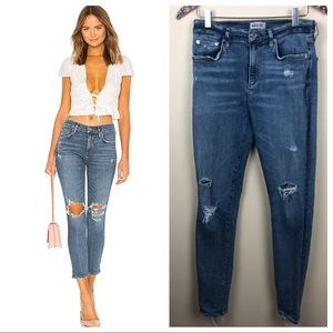 AGOLDE Sophie High rise skinny crop distressed 29